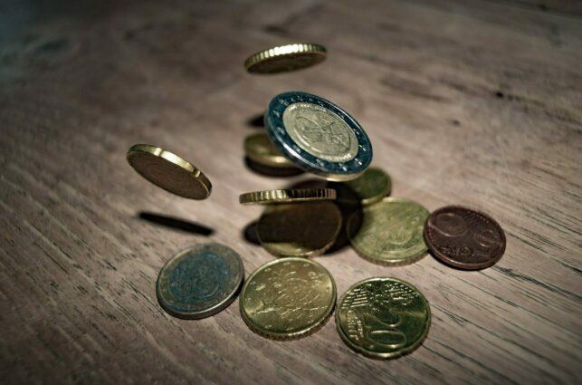 Geld-euro-munten